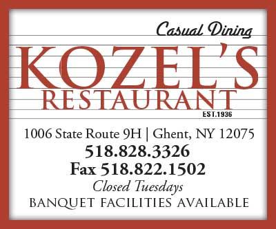 Kozels Restaurant display ad