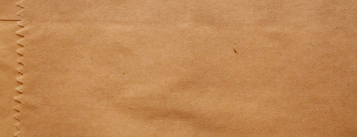 Brown paper back used for takeout and delivery options in Columbia County, NY