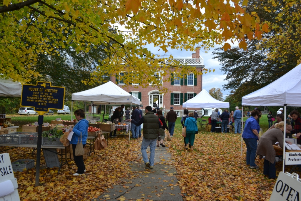 Fall event outside the James Vanderpool House in Kinderhook, NY